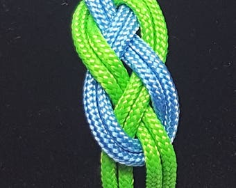 Neon Green and Blue Bracelet