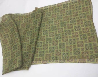 Scarf by CAPELLI - Forests Greens scarf - made in Italy