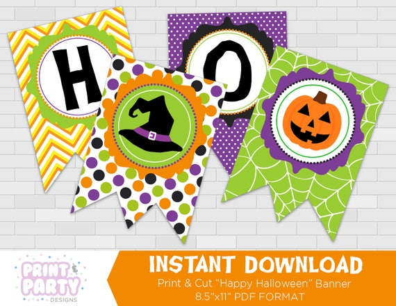 Printable Kid's Cute Happy Halloween Banner, Cute Halloween Party ...
