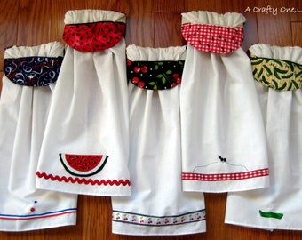 Summer Kitchen Towels, Hanging Kitchen Towels, 6.66 each when 3 are ordered! July 4th Towel, Watermelon Towel, Ant Kitchen Towels Handmade,