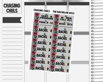 The Bachelor #SS1 Premium Matte Planner Stickers