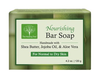 Nourishing Handmade Soap infused with Coconut, Shea Butter, Jojoba Oil, Honey, & Aloe Vera | Made in Thailand
