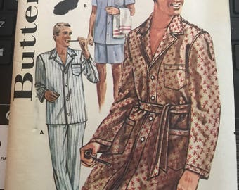 Vintage 40s Butterick 2306 Men's Pajama/Robe Pattern-Size Small (34-36 chest)