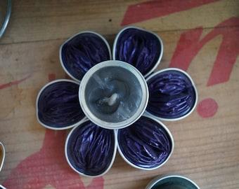 Purple Nespresso candlestick