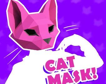 Cat head mask