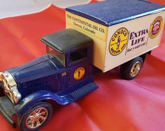 ertl metal 1995 conco motor oil  deliver truck coin bank
