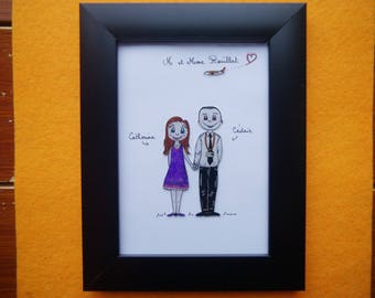 "The perlinpinpot's ""couple"" personalized frame"