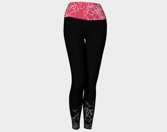 BLACK Yoga Pants/ Yoga Leggings/ Yoga Gifts/ Yoga Pants Women/ Modest Clothing/ Leggings/ Leggings Printed/ Leggings Women/ Leggings Pattern