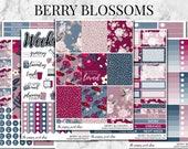 Berry Blossoms Planner Sticker Kit Collection - For use in Erin Condren, Happy Planner, Plum Paper, Filofax, Kikki K, Calendar, TN, ECLP