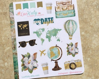 GO WITH All Your HEART Decorative Planner Stickers: Suitable for use with  inkWELL Press Planner  or Erin Condren Lifeplanner   Luckaty