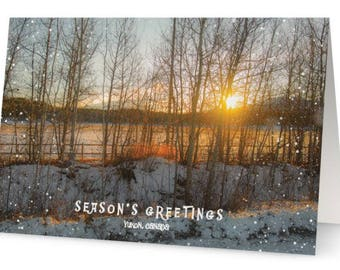 Early Sunrise in the Yukon Christmas Cards