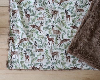 Deer | Woodland | Nursery | Swaddle blanket | Stretchy Cover | Forest | Fall blanket