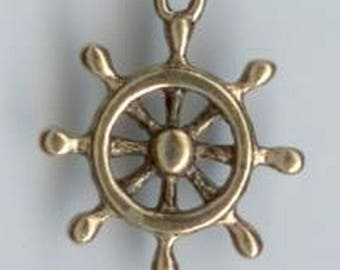 Golden wheel charms