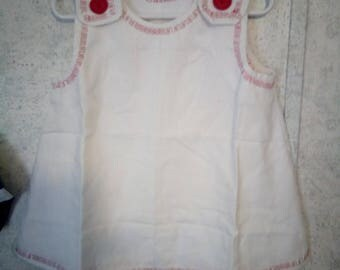 White dress with red stiching size 3