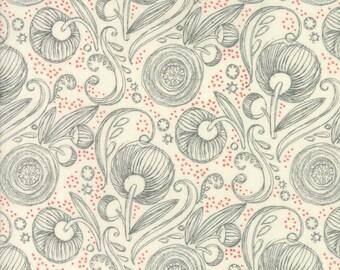 Moda BLUSHING PEONIES Quilt Fabric 1/2 Yard By Robin Pickens - Cloud 48613 11
