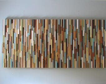 Wood wall art- modern wood wall art- reclaimed wood wall art - art sculpture