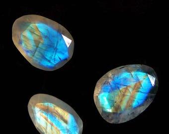 17cts Full Multi Fire Faceted Rainbow Moonstone Loose Gemstone Cabochons, Moonstone ring, Moonstone Pendant, moonstone bracelet