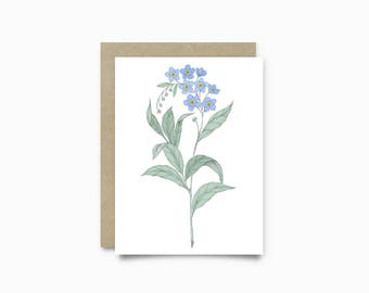 Greeting card - Forget Me Not