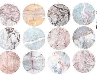 Marble Circle Planner Stickers