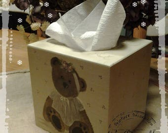 """Little bear"" square tissue box"