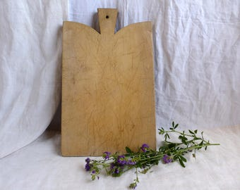 Antique french wood cutting board. Vintage french thick wood chopping board. French country kitchen. Food photography props. Rustic