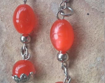 Funky,trendy,modern,fashion,simple,stylish,light,red silver,xmas,holiday,dance,party,birthday,bridesmaid,wedding,friend,dangle drop,earrings
