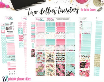 Travel Weekly Printable // Erin Condren // Printable Planner Stickers // Cut Line Files // Planner Stickers