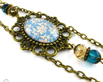 Chains blue Arabesque roy, reto vintage romantic Bohemian headband