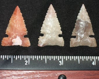 3 Flint Hunting Points (30 grains)