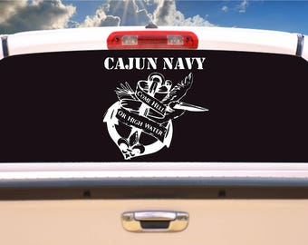 Cajun Navy Decal, Louisiana Cajun Navy Rescue, I support Louisiana