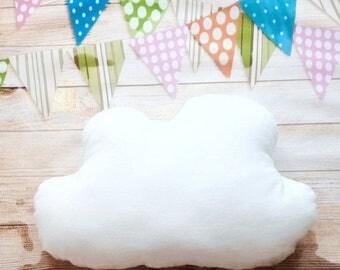 Sale Cloud Pillow White, Cloud Plush, Nursery Pillow, Cloud shaped Pillow, Baby Shower Gift, Sewn Toys