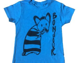 "Bonjour Mr. French Bulldog"" Baby/Toddler Tee"