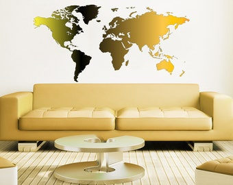 World map decal etsy new colorful world map wall decal full color sticker office cabinet decoration vinyl stickers decals nursery gumiabroncs Images