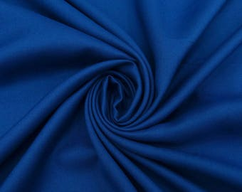 "Indian Rayon Fabric, Blue Color, Dress Fabric, Home Accessories, Sewing Decor, 42"" Inch Apparel Fabric By The Yard PZBR6I"