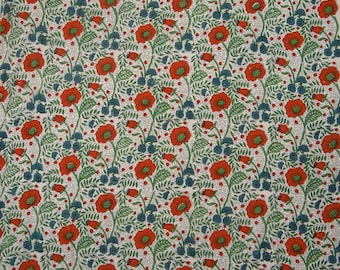 """Off White Fabric, Floral Print, Dress Fabric, Quilt Fabric, Sewing Decor Accessories, 40"""" Inch Cotton Fabric By The Yard ZBC8651A"""