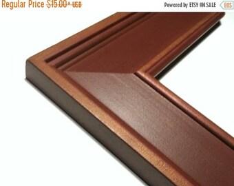 1 WEEK SALE Wide Primitive Wood Picture Frame, Red Clay Walnut Fade, 3x5,4x6, 5x7, 8x10, 9x9 ,11x14, 12x12, 16x20, 17x20, 20 x 24, 23x27, 8