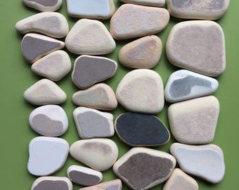 Genuine sea pottery , sea pottery , Scottish sea pottery , Scottish beach pottery , pottery shards , mosaic pieces , surf tumbled
