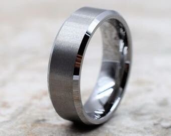 Tungsten Ring Mens Wedding Band