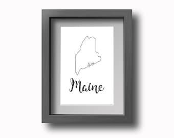 PRINTABLE Maine Wall Art!
