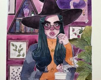 Witches Brew Café Art Print