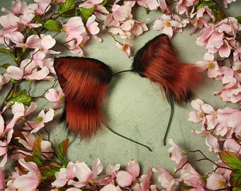 Large Black and Dark Red Ears