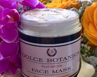 Clay Face Mask, Hydrating Face Mask, Kaolin Clay, Sea Minerals, All Skin Types, Natural Skincare