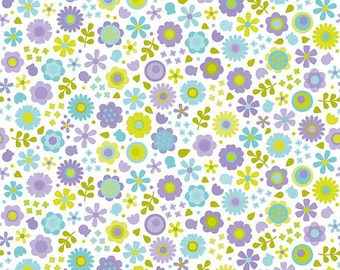 Sea Flowers, Riley Blakes, Under the Sea cotton fabric collection