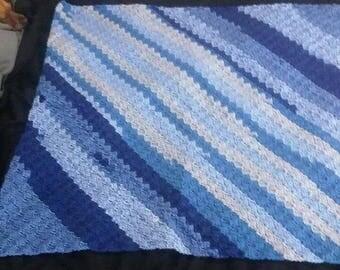 Blue/gray Baby Blanket