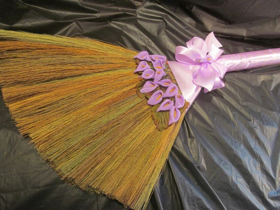 wedding broom sale calla lilly theme decorated jump broom