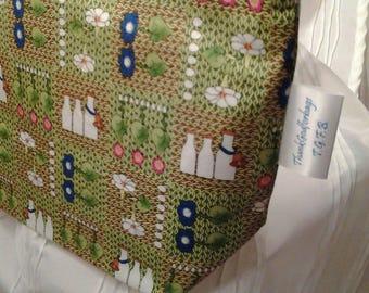 Knitted garden bag, Garden Zippered bag, Stitched garden bag