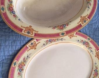 "MYOTT STAFFORDSHIRE Melrose 12"" Oval Serving Platter & 11"" Oval Vegetable Bowl"