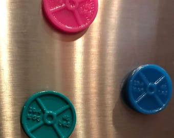 Weightplate refrigerator magnet- 2 pack!