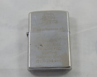 Vintage Cigarette Lighter Working with Phone Number on the Bottom