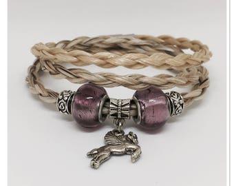Bracelet 3 horse hair wrap